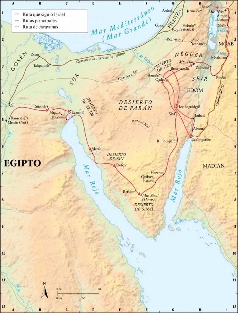 mapa ruta del exodo2